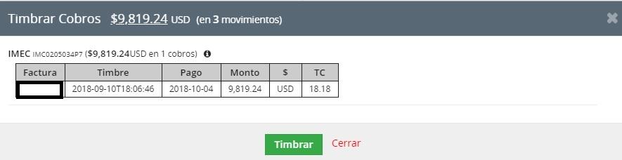 timbrado5  Timbrar cobros (pagos) en VTiger CRM 7